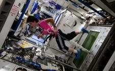L'astronaute italienne Samantha Cristoforetti dans l'ISS